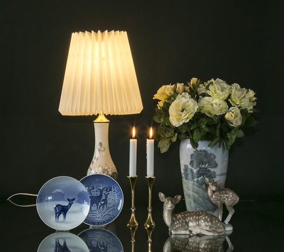 Smuk gammel B&G lampe