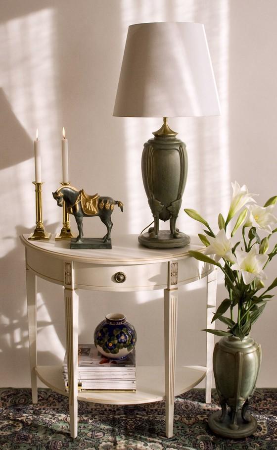 Klassisk jadegrøn lampe