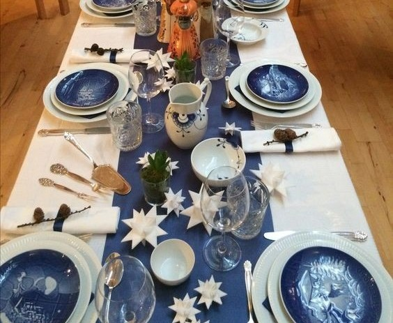 Setting the table with plates