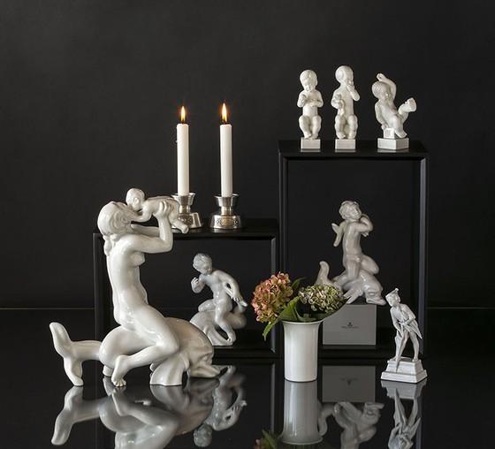 Royal Copenhagen Royal White Figurines